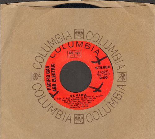 Pacific Gas & Electric - Elvira/Father Come On Home (with Columbia company sleeve) - NM9/ - 45 rpm Records