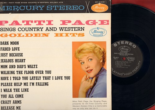 Page, Patti - Patti Page Sings Country And Western Golden Hit Vol. 2: Walk On By, I Fall To Pieces, You Don't Know Me, Four Walls (Vinyl STEREO LP record) - EX8/EX8 - LP Records