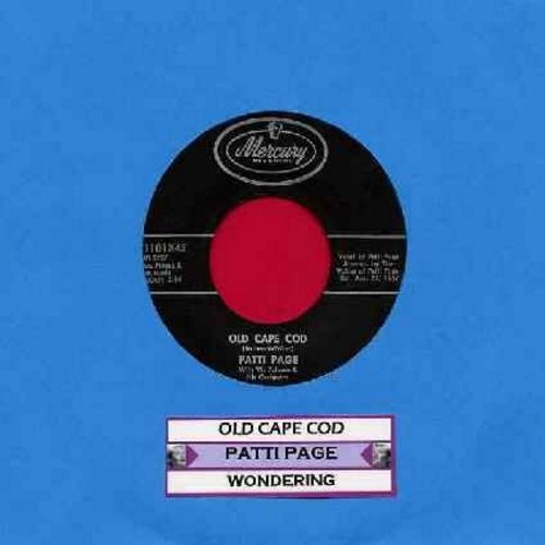 Page, Patti - Old Cape Cod/Wondering (with juke box label) - EX8/ - 45 rpm Records