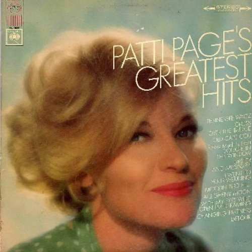 Page, Patti - Patti Page's Greatest Hits: Tennessee Waltz, (How Much Is That) Doggie In The Window, Allegheny Moon, Cross Over The Bridge, I Went To Your Wedding (vinyl STEREO LP record) - NM9/EX8 - LP Records