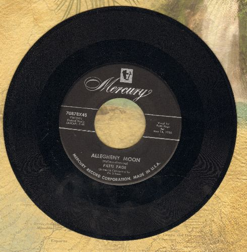 Page, Patti - Allegheny Moon/The Strangest Romance (with juke box label) - EX8/ - 45 rpm Records