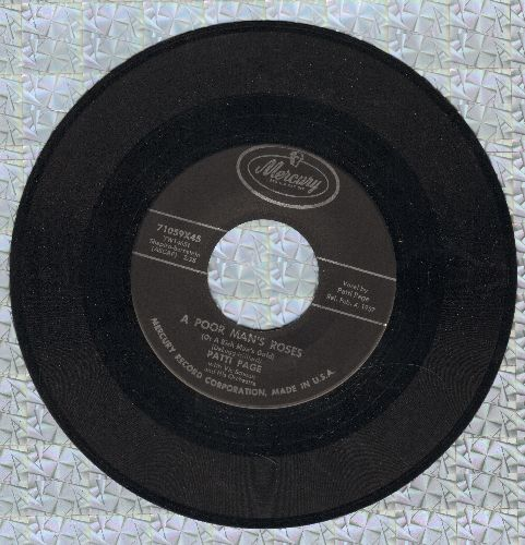 Page, Patti - A Poor Man's Roses/The Wall  - EX8/ - 45 rpm Records