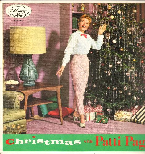Page, Patti - Christmas With Patti Page: Christmas Bells, Santa Claus Is Coming To Town, Rudolph The Red-Nosed Reindeer, Silver Bells, Happy Birthday Little Jesus (Vinyl MONO LP record, re-issue of vintage recordings) - NM9/NM9 - LP Records