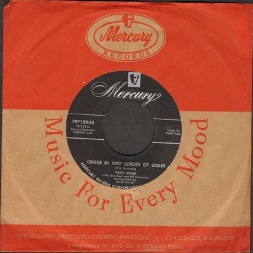 Page, Patti - Croce Di Oro (Cross Of Gold)/Search My Heart (with Mercury company sleeve) - NM9/ - 45 rpm Records
