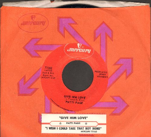 Page, Patti - Give Him Love/I Wish I Could Take That Little Boy Home (MINT condition with Mercury company sleeve and juke box label) - M10/ - 45 rpm Records