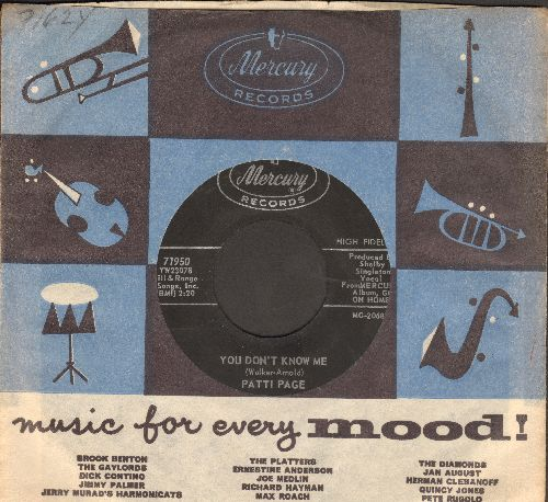 Page, Patti - You Don't Know Me/Most People Get Married (with vintage Mercury company sleeve) - NM9/ - 45 rpm Records