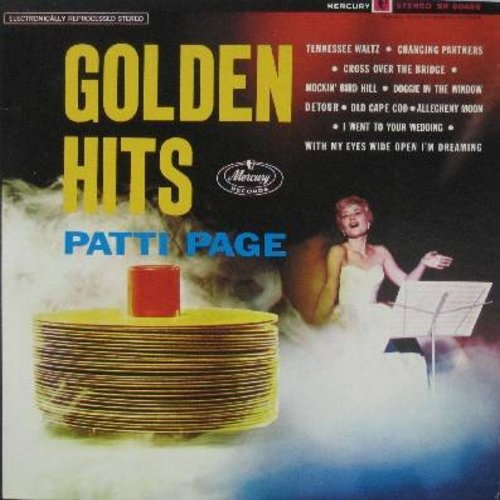 Page, Patti - Golden Hits: Tennessee Waltz, Cross Over The Bridge, Old Cape Cod, Doggie In The Window, Allegheny Moon (Vinyl STEREO LP record, 1980s issue of vintage recordings) - NM9/NM9 - LP Records