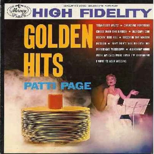 Page, Patti - Golden Hits: Tennessee Waltz, Cross Over The Bridge, Old Cape Cod, Doggie In The Window, Allegheny Moon (Vinyl MONO LP record) - EX8/EX8 - LP Records