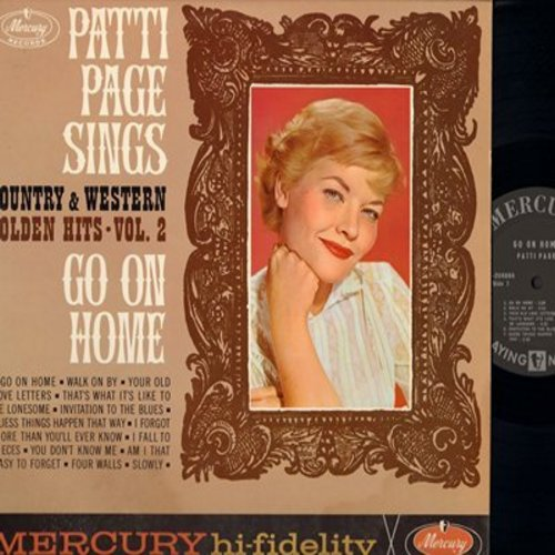 Page, Patti - Patti Page Sings Country And Western Golden Hit Vol. 2: Walk On By, I Fall To Pieces, You Don't Know Me, Four Walls (Vinyl MONO LP record) - NM9/NM9 - LP Records