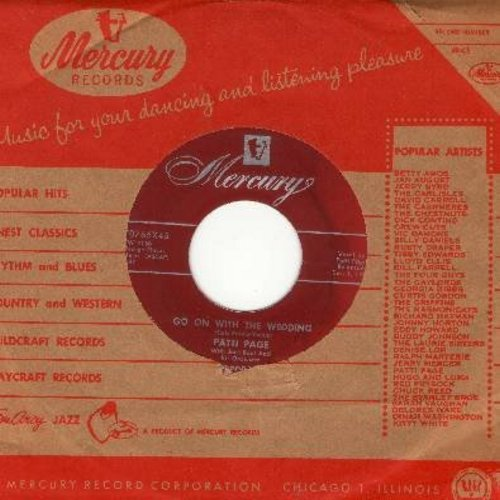 Page, Patti - Go On With The Wedding/The Voice Inside (with vintage Mercury company sleeve) - NM9/ - 45 rpm Records