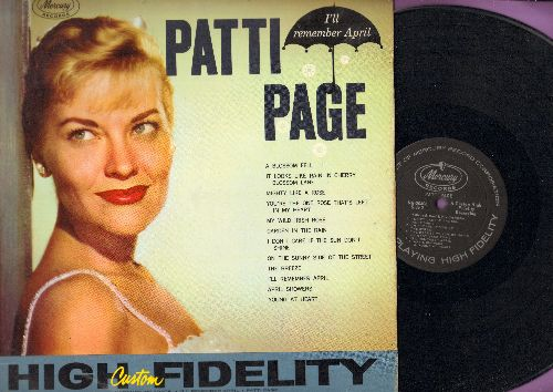 Page, Patti - I'll Remember April: I Don't Care If The Sun Don't Shine, April Showers, The Breeze, Young At Heart, A Blossom Fell (Vinyl MONO LP record) - NM9/NM9 - LP Records