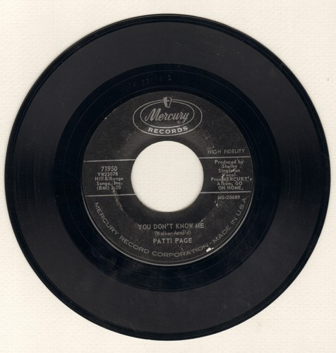 Page, Patti - You Don't Know Me/Most People Get Married - VG7/ - 45 rpm Records