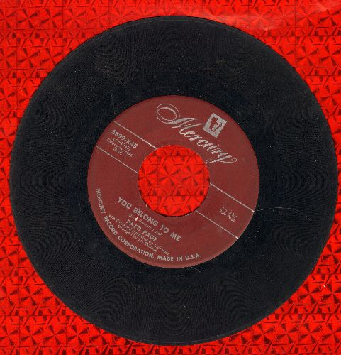 Page, Patti - You Belong To Me/I Went To Your Wedding (maroon label first issue) - VG6/ - 45 rpm Records