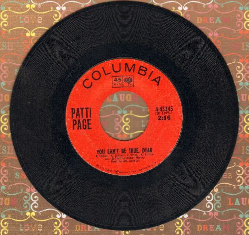 Page, Patti - You Can't Be True, Dear/Who's Gonna Shoe My Pretty Little Feet  - EX8/ - 45 rpm Records