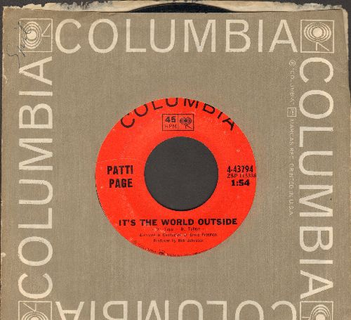 Page, Patti - It's The World Outside/Almost Persuaded - NM9/ - 45 rpm Records