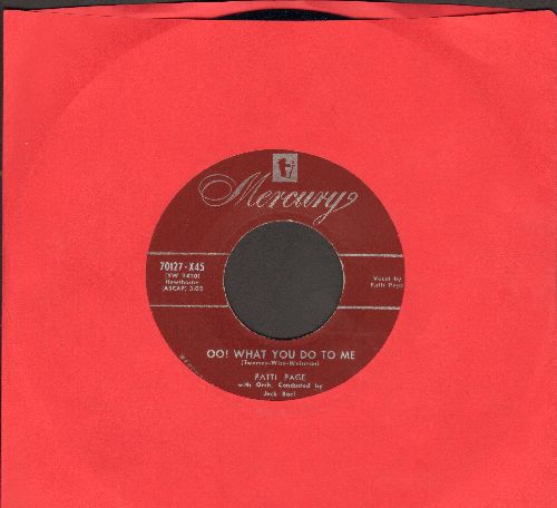 Page, Patti - Oo! What You Do To Me/Now That I'm In Love (label blemish on B-side) - NM9/ - 45 rpm Records