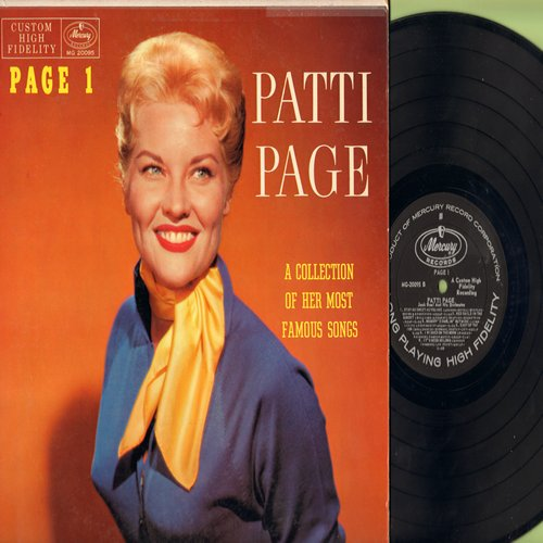 Page, Patti - Page 1: I Only Have Eyes For You, I'll String Along With You, Red Sails In The Sunset, It's Been So Long (Vinyl MONO LP record) - NM9/EX8 - LP Records