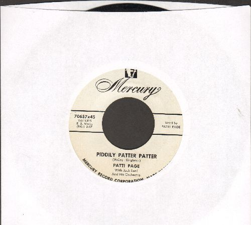 Page, Patti - Piddly Patter Patter/Every Day (DJ advance pressing - NM9/ - 45 rpm Records
