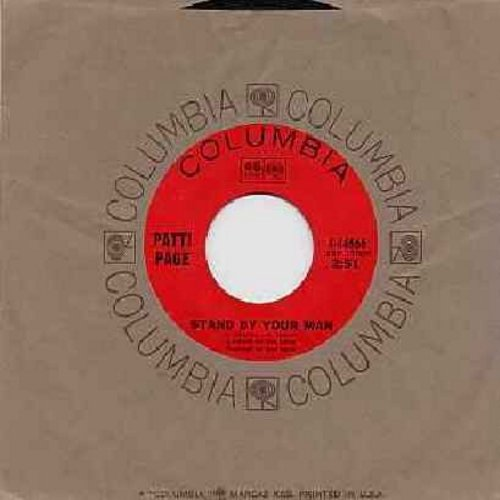Page, Patti - Stand By Your Man/Red Summer Roses (with Columbia company sleeve) - NM9/ - 45 rpm Records