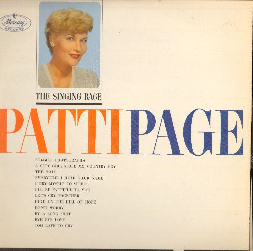 Page, Patti - The Singing Rage: Bye Bye Love, The Wall, Summer Photographs, By A Long Shot (Vinyl MONO LP record) - NM9/NM9 - LP Records