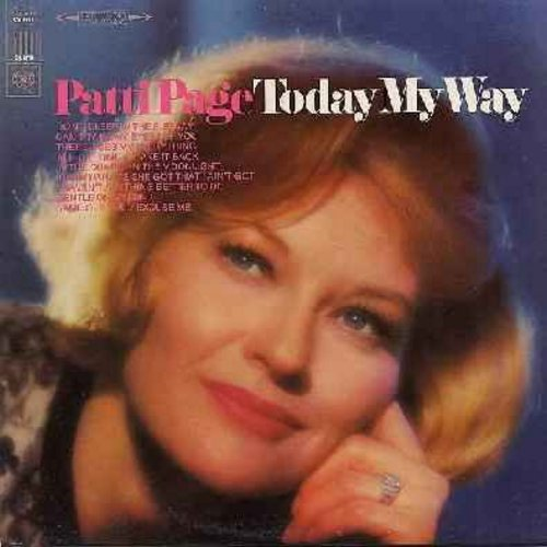 Page, Patti - Today My Way: Can't Take My Eyes Off You, In The Chapel In The Moonlight, I Take It Back, Don't Sleep In The Subway (Vinyl STEREO LP record) - EX8/EX8 - LP Records