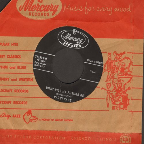 Page, Patti - What Will My Future Be/One Of Us (corner of company sleeve torn off) - NM9/ - 45 rpm Records