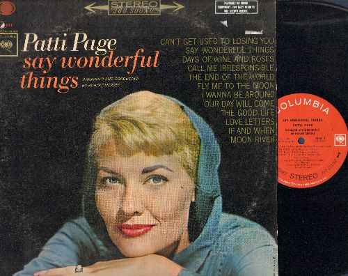 Page, Patti - Say Wonderful Things: Can't Get Used To Losing You, The End Of The World, Fly Me To The Moon, Our Day Will Come, Moon River (Vinyl STEREO LP record) - NM9/VG7 - LP Records