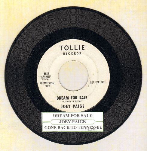 Paige, Joey - Dream For Sale/Gone Back To Tennessee (DJ advance pressing with juke box label) - NM9/ - 45 rpm Records