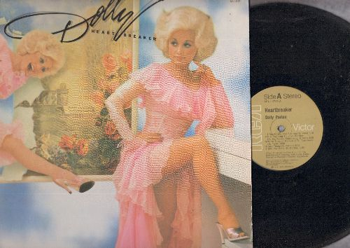 Parton, Dolly - Heartbreaker: We're Through Forever ('Til Tomorrow), Nickels And Dimes, Baby I'm Burnin', I Wanna Fall In Love (Vinyl STEREO LP record, gate-fold cover) - EX8/NM9 - LP Records