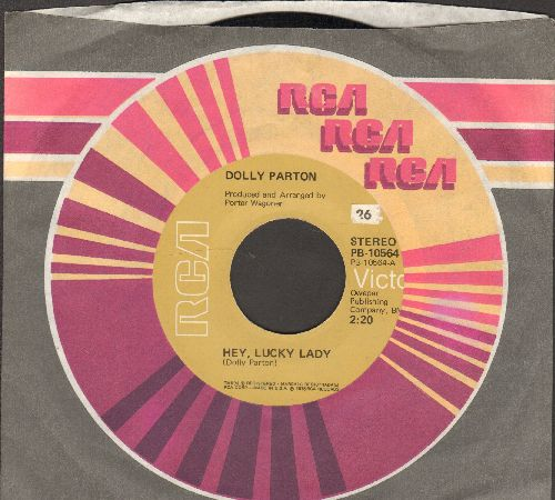 Parton, Dolly - Hey, Lucky Lady/Most Of All, Why (with RCA company sleeve) - NM9/ - 45 rpm Records