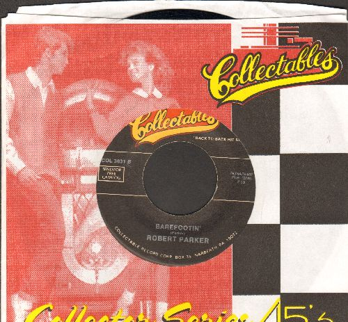 Parker, Robert - Barefootin'/Mountain Of Love (by Harold Dorman on flip-side) (double-hit re-issue with company sleeve) - EX8/ - 45 rpm Records