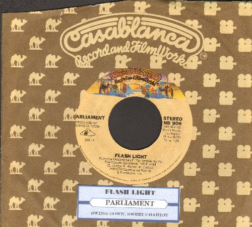 Parliament - Flash Light/Swing Down, Sweet Chariot (with juke box label and Casablanca company sleeve) - EX8/ - 45 rpm Records