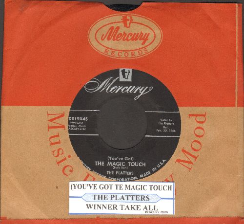 Platters - (You've Got) The Magic Touch/I'll Be Home (with juke box label and Mercury company sleeve) - NM9/ - 45 rpm Records