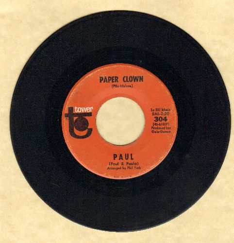 Paul (of Paul & Paula) - Paper Clown/Patsy - EX8/ - 45 rpm Records