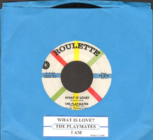 Playmates - What Is Love? (5 Feet Of Heaven & A Pony-Tail)/I Am (with juke box label) - NM9/ - 45 rpm Records