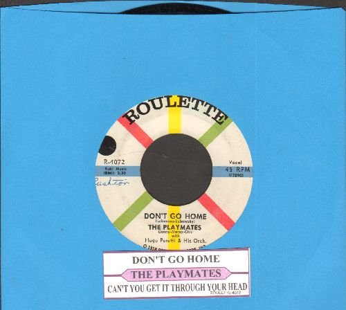 Playmates - Don't Go Home/Can't You Get It Through Your Head (with juke box label) - NM9/ - 45 rpm Records