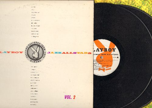Armstrong, Louis, Lionel Hampton, Dave Brubeck, Ella Fitzgerald, others - The Playboy Jazz All Stars Vol. 2 (2 vinyl LP record set, gate-fold cover with picture pages, 1958 first pressing) - NM9/EX8 - LP Records