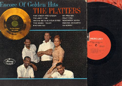 Platters - Encore Of Golden Hits: Twilight Time, Smoke Gets In Your Eyes, The Magic Touch, My Prayer, Only You, Enchanted (Vinyl MONO LP record, red label 1960s pressing)) - NM9/NM9 - LP Records