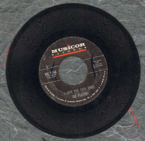 Platters - I Love You 1000 Times/Hear No Evil, Speak No Evil, See No Evil - EX8/ - 45 rpm Records