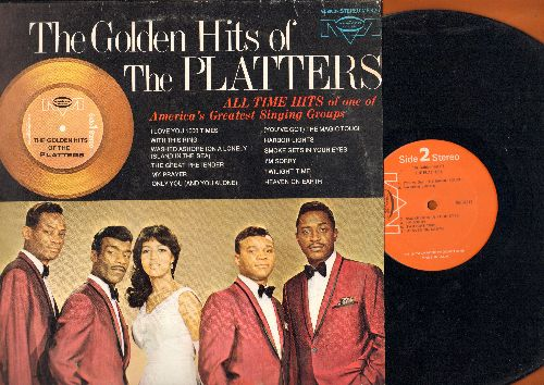 Platters - The Golden Hits: My Prayer, Twilight Time, With This Ring, The Great Pretender, Smoke Gets In Your Eyes (vinyl STEREO LP record) - NM9/EX8 - LP Records