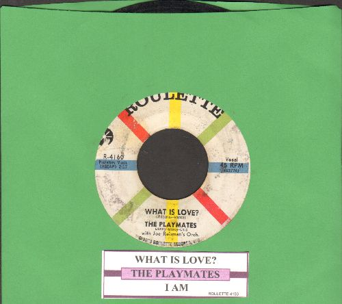 Playmates - What Is Love? (5 Feet Of Heaven & A Pony-Tail)/I Am (with juke box label) - VG7/ - 45 rpm Records