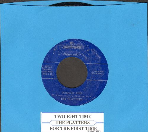 Platters - Twilight Time/For The First Time (Come Prima) (double-hit re-issue with juke box label) - NM9/ - 45 rpm Records