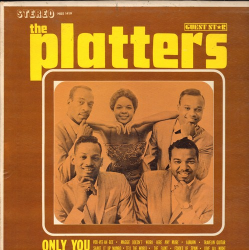 Platters - Only You: Voo-Vee-Ah-Bee, Shake It Up Mambo, Shake It Up Mambo, Maggie Doesn't Work Here Anymore, Travelin' Guitar (Vinyl LP record) - EX8/VG7 - LP Records