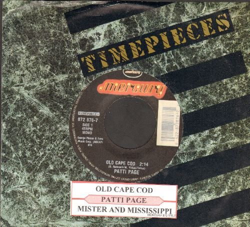 Page, Patti - Old Cape Cod/Mister And Mississippi (authentic-looking re-issue with  company sleeve and juke box label) - NM9/ - 45 rpm Records