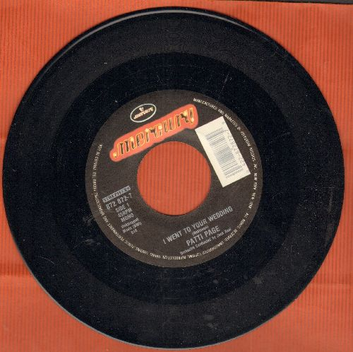 Page, Patti - I Went To Your Wedding/Mockingbird Hill (double-hit re-issue, MINT condition) - M10/ - 45 rpm Records