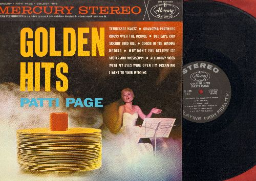 Page, Patti - Golden Hits: Tennessee Waltz, Cross Over The Bridge, Old Cape Cod, Doggie In The Window, Allegheny Moon (Vinyl STEREO LP record, black label first pressing) - NM9/NM9 - LP Records