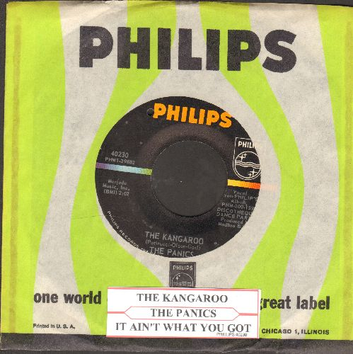 Panics - The Kangaroo/It Ain't What You Got (with vintage Philips company sleeve and juke box label) (bb) - NM9/ - 45 rpm Records