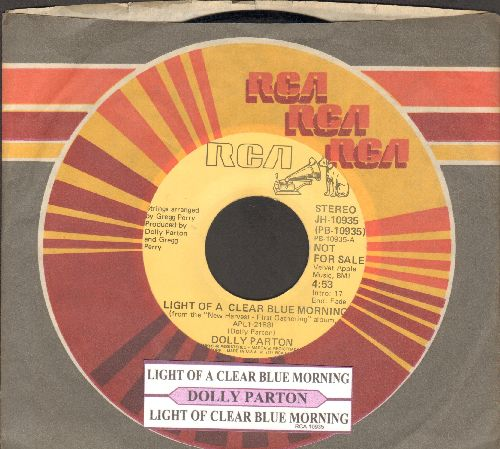 Parton, Dolly - Light Of A Clear Mornings (double-A-sided DJ advance pressing with juke box label and RCA company sleeve) - EX8/ - 45 rpm Records