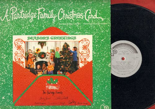 Partridge Family - A Partridge Family Chrsitmas Card: Rockin' Around The Christmas Tree, Frosty The Snowman, Sleigh Ride, Jingle Bells, Santa Claus Is Coming To Town (vinyl STEREO LP record) - NM9/EX8 - LP Records