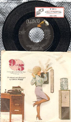 Parton, Dolly - 9 to 5/Sing For the Common Man (with juke box label and picture sleeve) - NM9/EX8 - 45 rpm Records